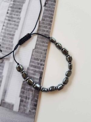 Man Bracelet Black Rocks